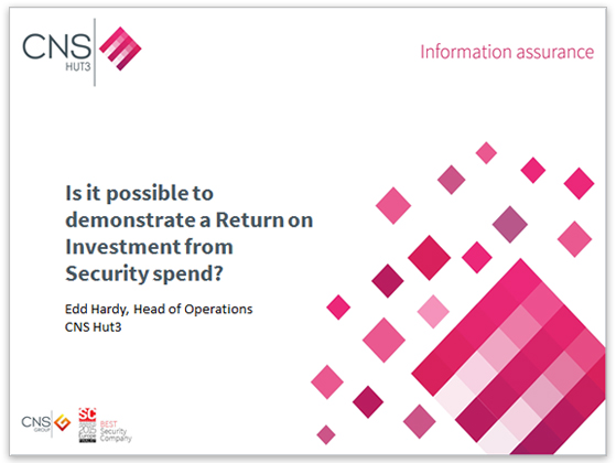Is it possible to demonstrate a Return on Investment from Security spend?