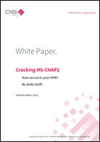 Cracking MS-CHAP2: How Secure is your VPN